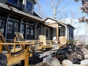 Stemwinder Camp offers beautiful mountain views at Balsam Mountain Preserve.